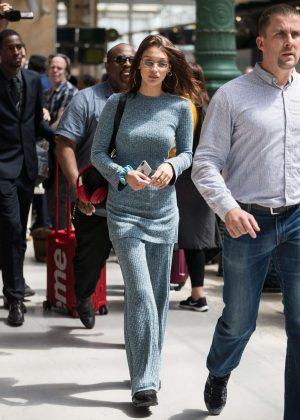 Bella Hadid - Arriving at her hotel in Paris