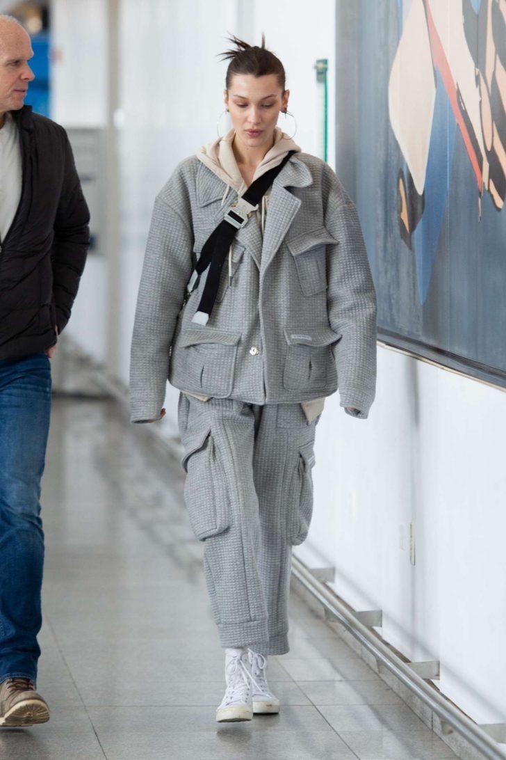 Bella Hadid: Arriving at JFK Airport -02