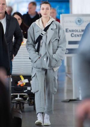 Bella Hadid - Arriving at JFK Airport in NYC