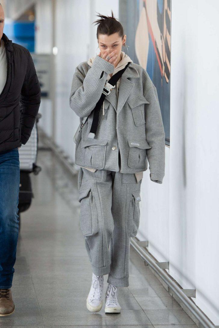Bella Hadid: Arriving at JFK Airport -08