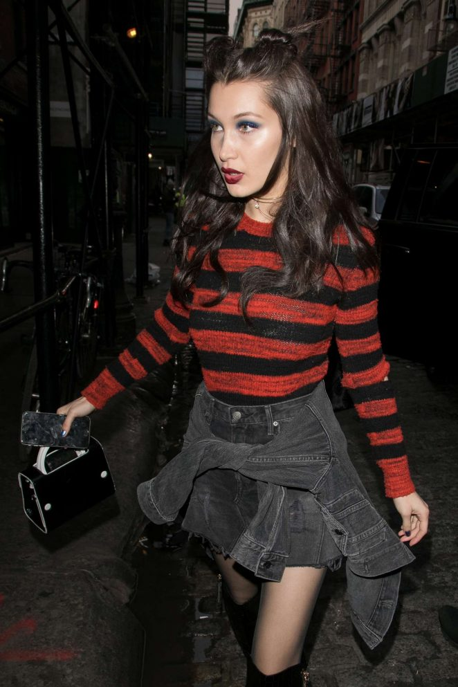 Bella Hadid - Arriving at the Mercer Hotel in New York City