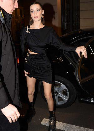 Bella Hadid - Arriving at the Versace Dinner in Milan