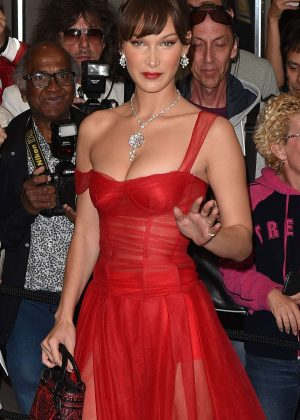 Bella Hadid - Arriving for the Dior Dinner in Cannes
