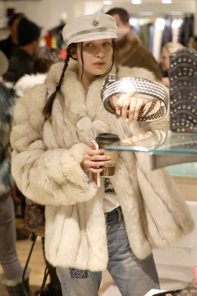 Bella Hadid at Aspen women's clothing store Nuages