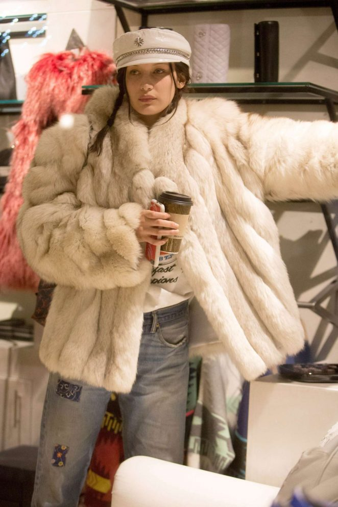 Bella Hadid at Aspen womens clothing store Nuages -05