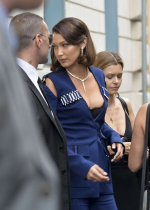 Bella Hadid at her hotel in Rome