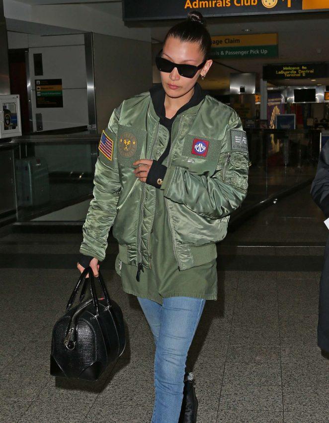Bella Hadid at JFK Airport in New York
