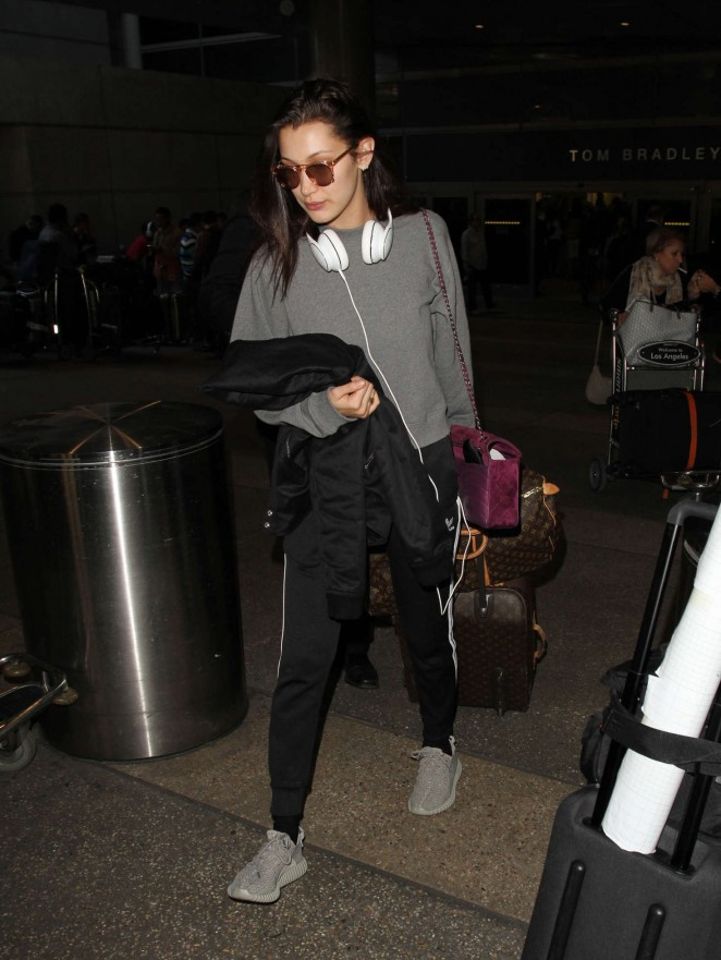 Bella Hadid at LAX Airport in LA