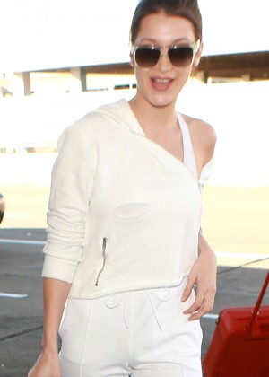 Bella Hadid at LAX Airport in Los Angeles