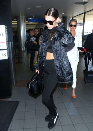 Bella Hadid - At LAX airport in Los Angeles