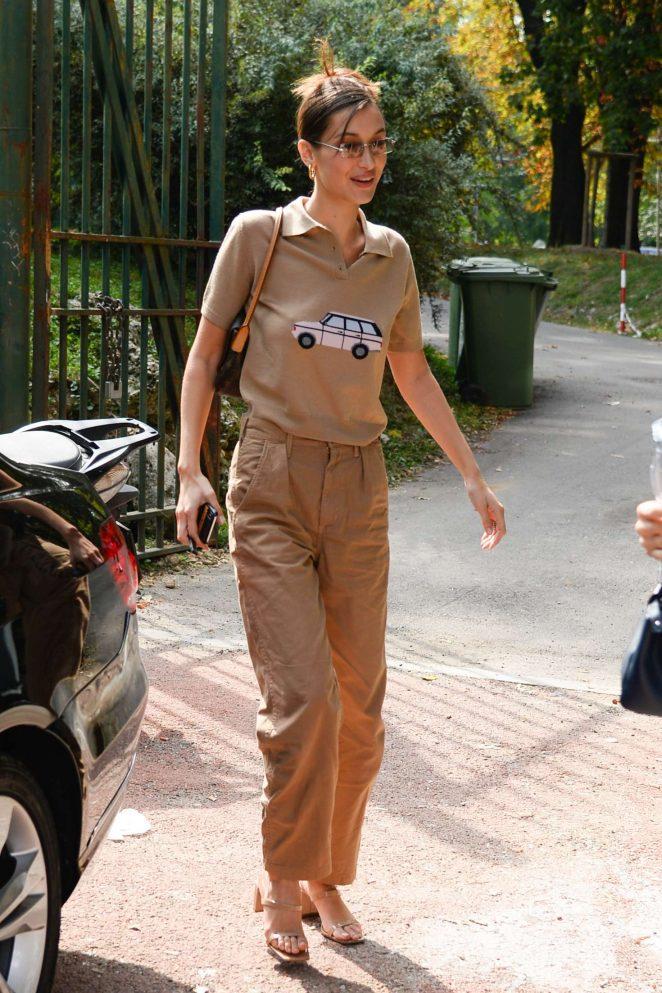 Bella Hadid at Milan Fashion Week in Milan