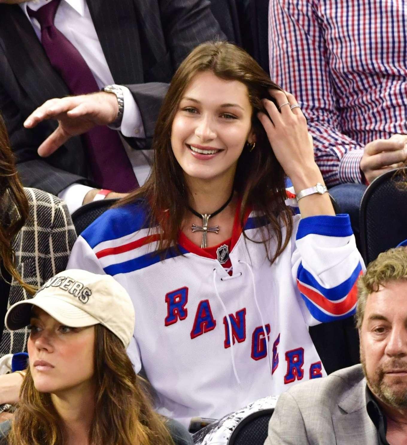 Bella Hadid At New York Rangers Game