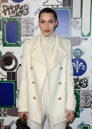 Bella Hadid at Opening of the Boutique Rimowa 73 Rue du Faubourg Saint Honore in Paris