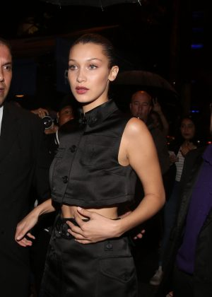 Bella Hadid at the Miu Miu Party in Paris