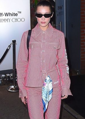 Bella Hadid - Attends Jimmy Choo Off-White event in NYC