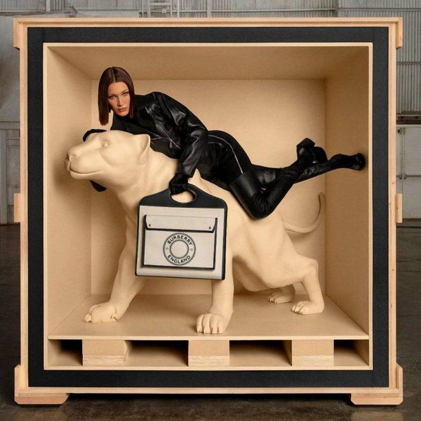 Bella Hadid - Burberry's The Pocket Bag Campaign