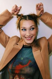 Bella Hadid by by Brett Russell Shoot at Fendi Backstage Show