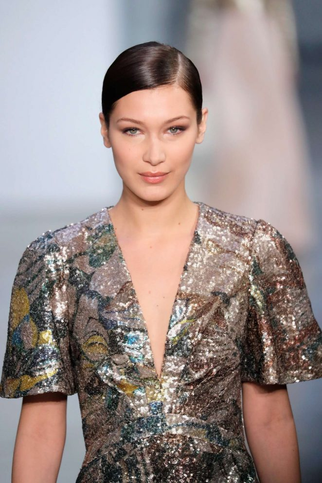 Bella Hadid: Carolina Herrera Runway Show at 2017 NYFW -02