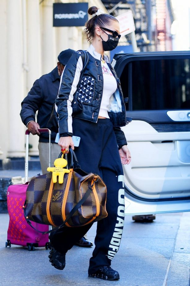 Bella Hadid - Carrying a LV bag in New York