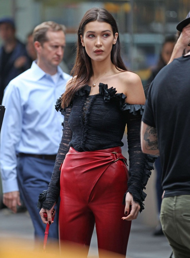 Bella Hadid: Doing a photoshoot -13