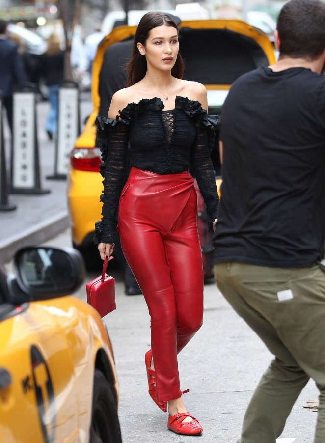 Bella Hadid: Doing a photoshoot -15