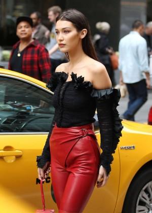 Bella Hadid - Doing a photoshoot in NYC