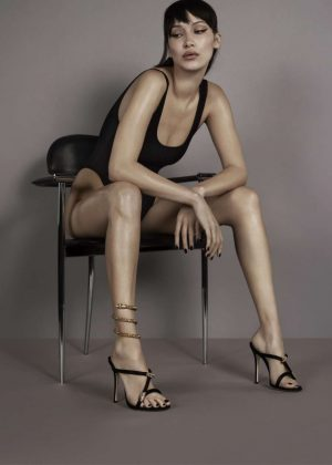 Bella Hadid - Giuseppe Zanotti Photoshoot (January 2018)