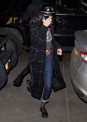 Bella Hadid goes to dinner in New York City