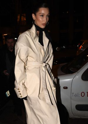 Bella Hadid - Goes to Louis Vuitton Party in Paris