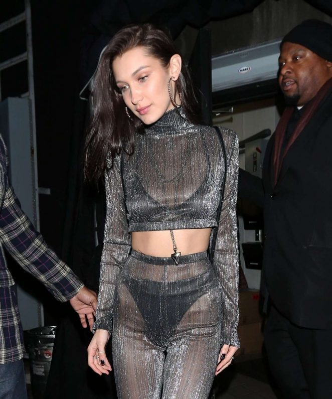 Bella Hadid - Goes to The Nice Guy Club in West Hollywood