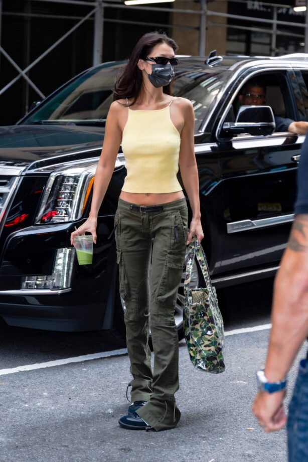 Bella Hadid - Heads to a photoshoot for Michael Kors in New York City