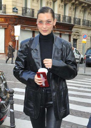 Bella Hadid - Heads to Bulgari store in Paris