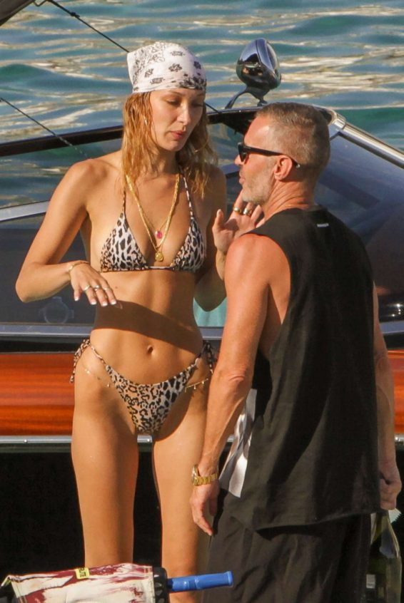 Bella Hadid 2019 : Bella Hadid in Animal Print Bikini 2019-45