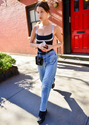 Bella Hadid in Jeans Out in New York City