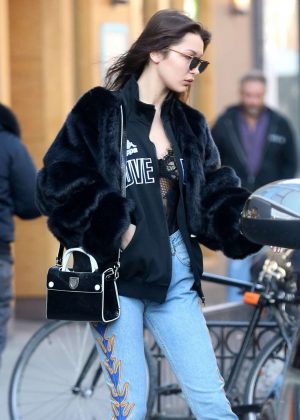 Bella Hadid in Jeans Out in New York