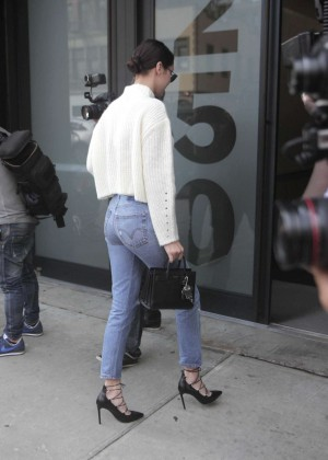 Bella Hadid in Jeans out in NYC