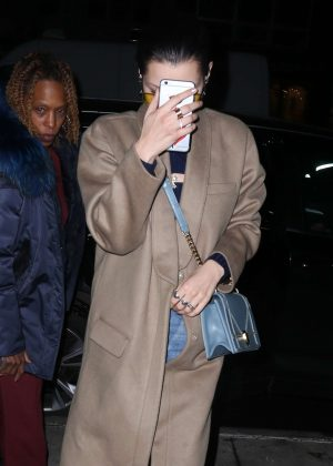 Bella Hadid in Long Coat out in New York City