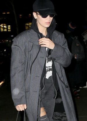 Bella Hadid in Long Coat - Shopping in SoHo