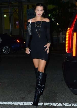 Bella Hadid in Mini Dress at Cipriani in NYC
