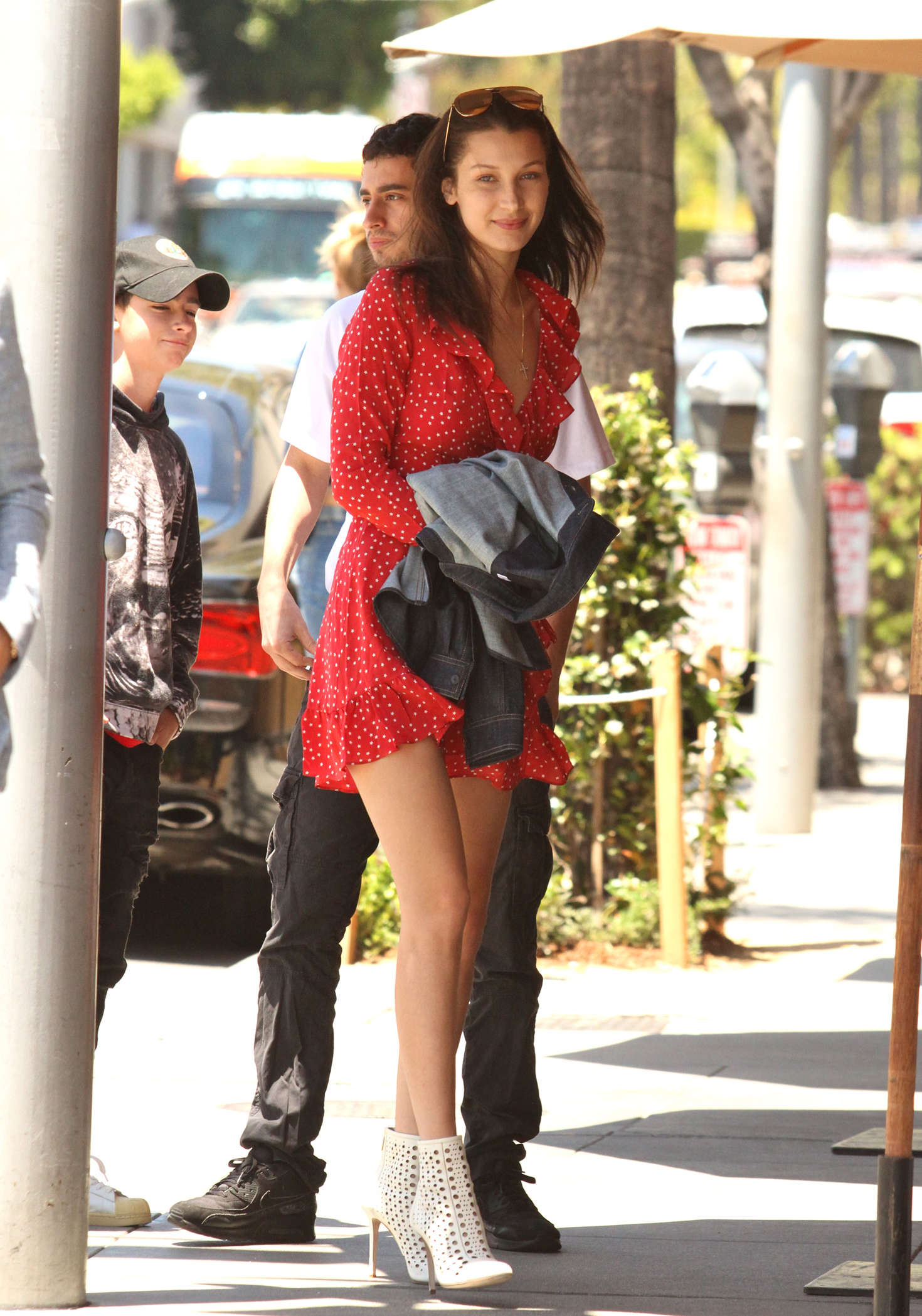 Bella Hadid 2016 : Bella Hadid in Red Mini Dress -01