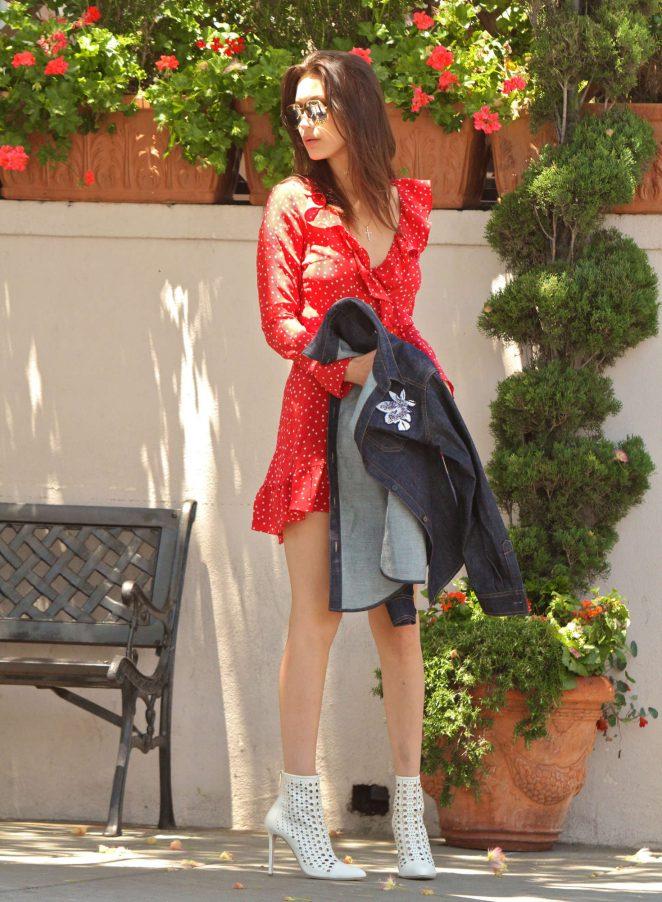 Bella Hadid 2016 : Bella Hadid in Red Mini Dress -03