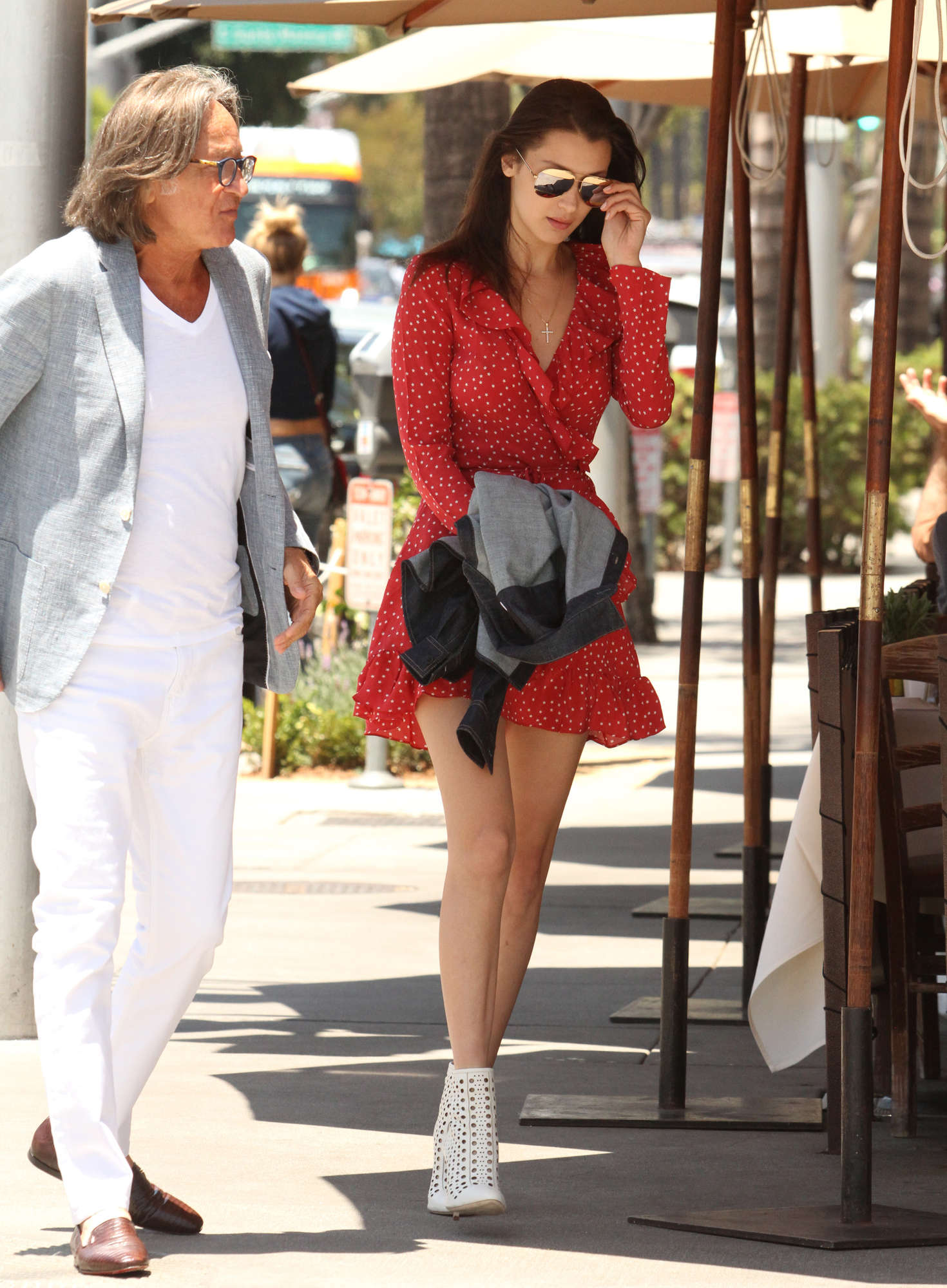 Bella Hadid 2016 : Bella Hadid in Red Mini Dress -07