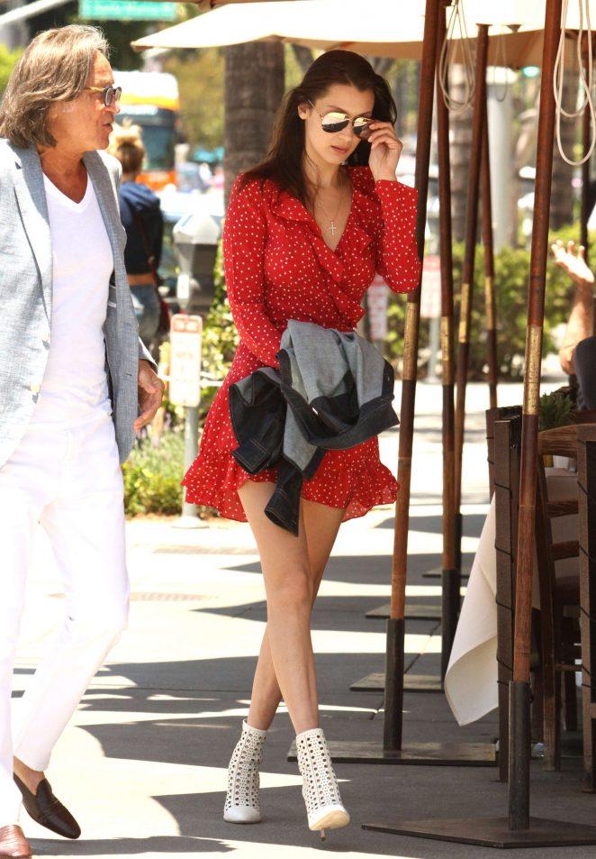 Bella Hadid 2016 : Bella Hadid in Red Mini Dress -08