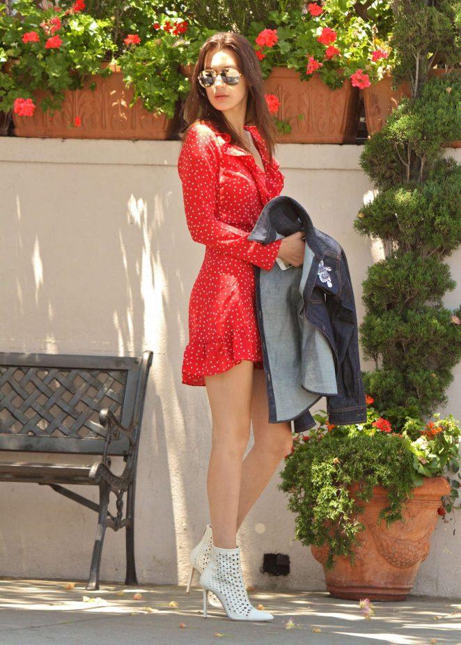Bella Hadid 2016 : Bella Hadid in Red Mini Dress -11