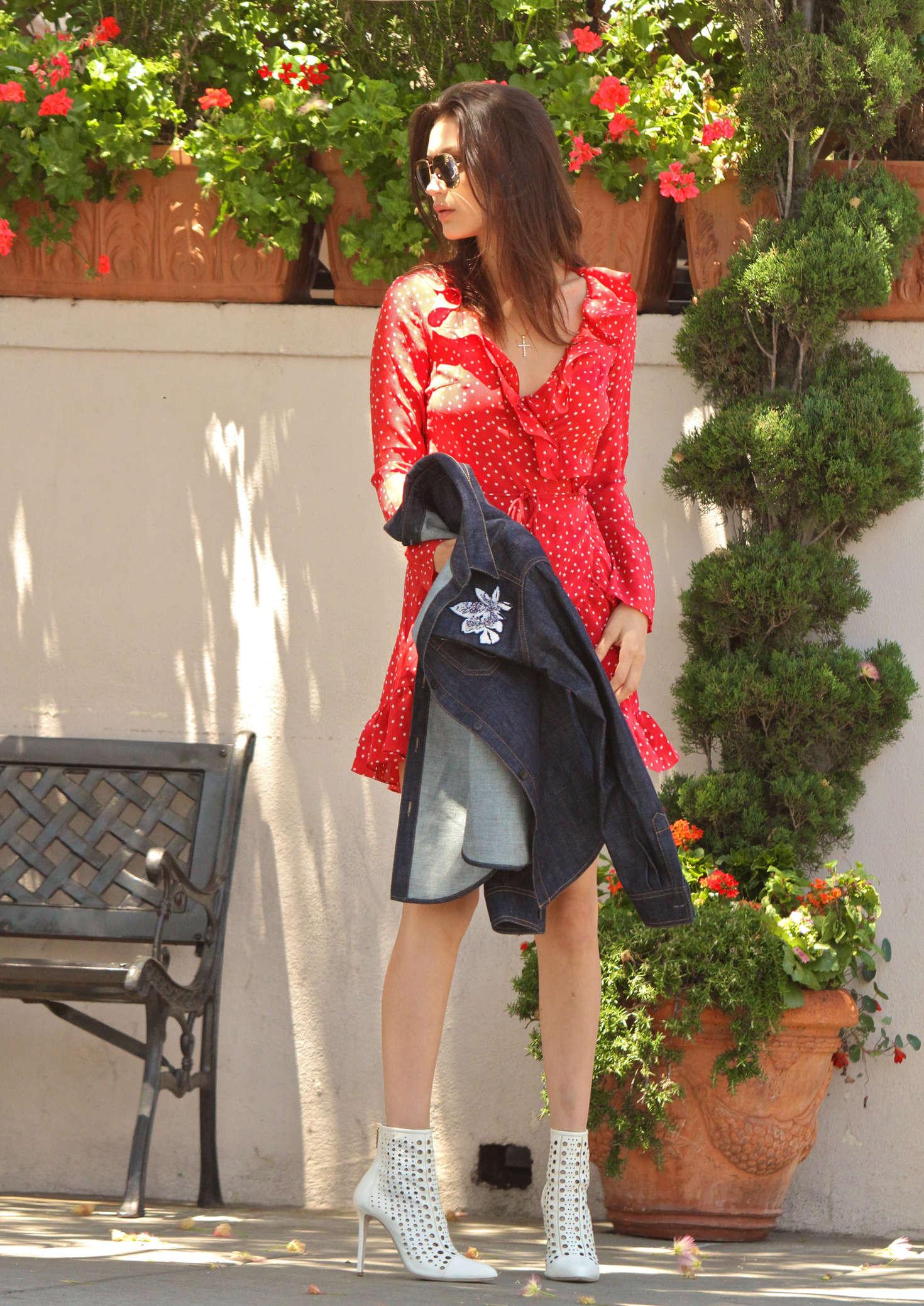 Bella Hadid 2016 : Bella Hadid in Red Mini Dress -22