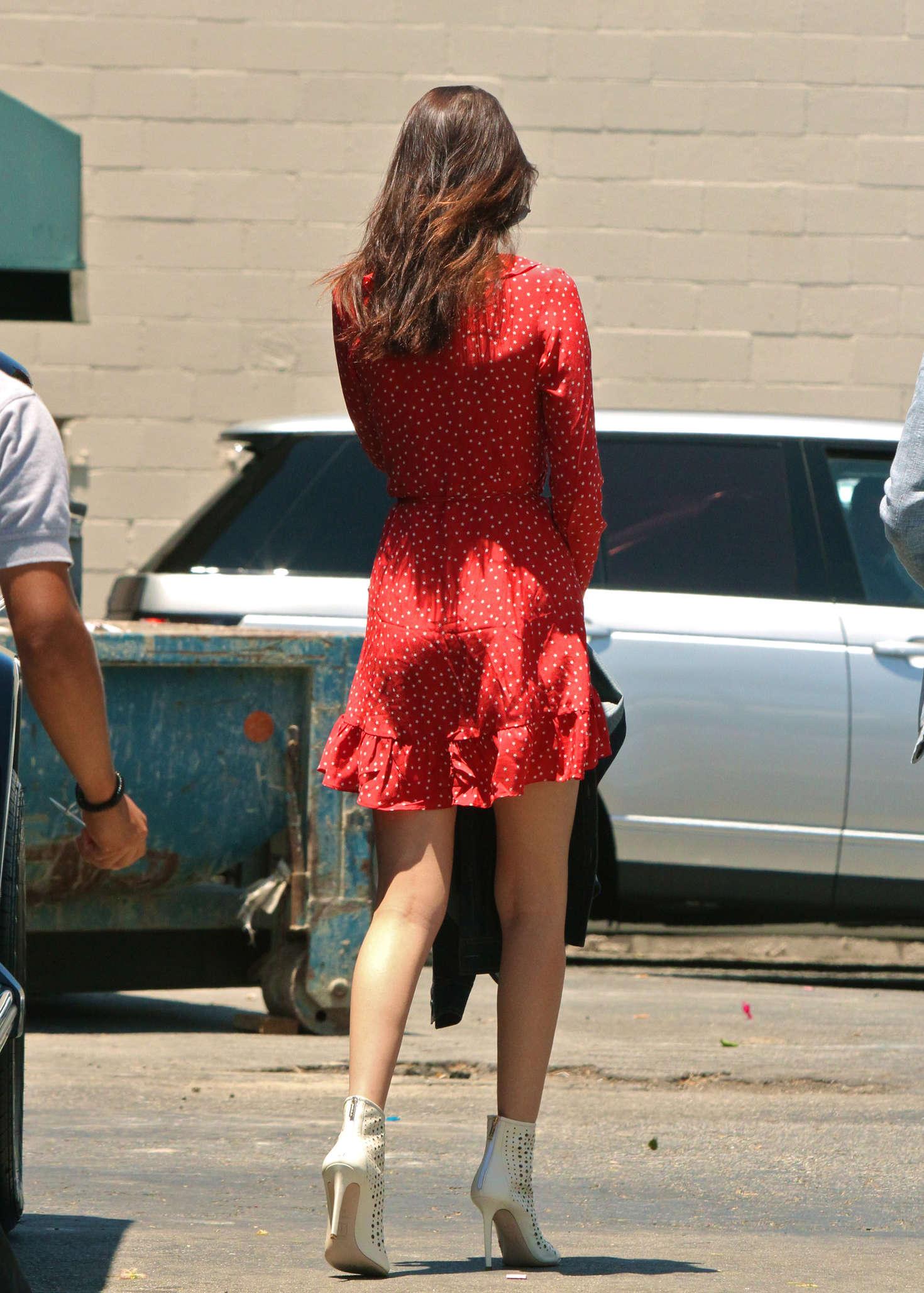Bella Hadid In Red Mini Dress 27 Gotceleb