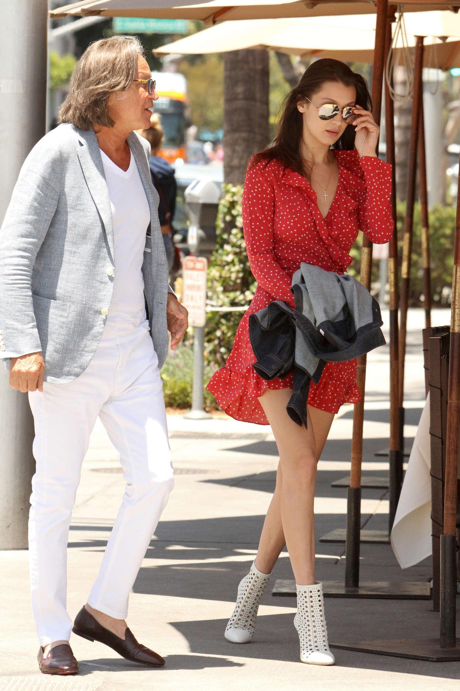 Bella Hadid 2016 : Bella Hadid in Red Mini Dress -30