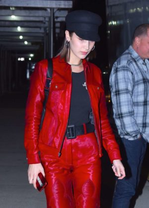 Bella Hadid in Red Suit - Out and about in New York