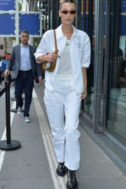 Bella Hadid in White - Out and about in Paris