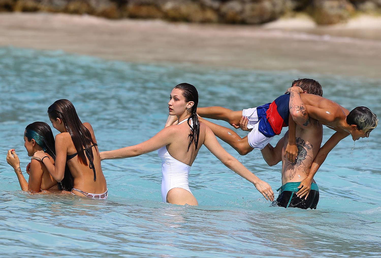90ea061dd4 Bella Hadid in White Swimsuit 2016 -25 - Full Size
